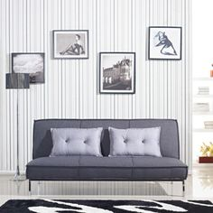 @Overstock.com - Vitoria 76-inch Charcoal Sofa Bed with French Seams  - This stylish sofa bed features a thick foam-filled pad upholstered in grey linen-like polyester fabric with French seams. Finished in chrome, this bed has a modern look to contribute to any decor.   http://www.overstock.com/Home-Garden/Vitoria-76-inch-Charcoal-Sofa-Bed-with-French-Seams/7941660/product.html?CID=214117 $459.99
