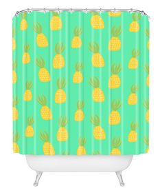 cute pineapples shower curtain zulilyfinds