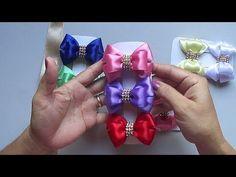 Rosa beliscada Pomposa. Com fita de cetim número 9 - YouTube Flower Hair Bows, Ribbon Hair Bows, Diy Hair Bows, Diy Bow, Ribbon Work, Ribbon Bow Tutorial, Hair Bow Tutorial, Fleurs Kanzashi, Disney Princess Hairstyles
