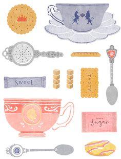 little-doodles, illustrated by kate wilson  seen on vlinspiratie.blogspot.nl