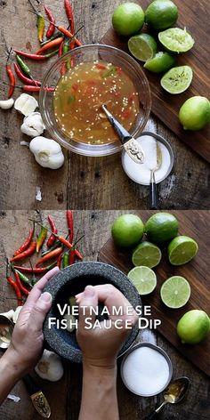 Vietnamese Sauce, Vietnamese Fish, Easy Vietnamese Recipes, Vietnamese Spring Rolls, Vietnamese Egg Rolls, Vietnamese Dessert, Fresh Spring Rolls, Summer Rolls, Recipes Using Fish Sauce