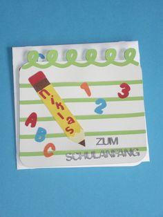 """Glückwunschkarten -  Glückwunschkarte zur Einschulung """" Bleistift """"  - ein Designerstück von Wonderful-Paper-Art bei DaWanda"""