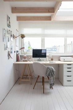 Home Office set up Scandinavian design