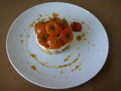Tortino di albicocche caramellate,ricotta cannella e limone  Gino D'Aquino