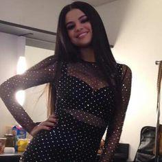 November 22: Selena backstage at the 2015 American Music Awards in Los Angeles, California
