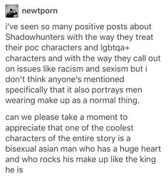 I just love Shadowhunters so much