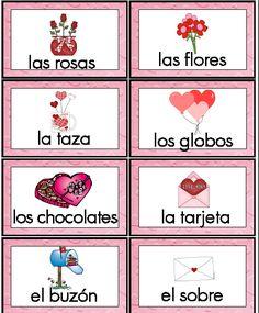 Valentines Spanish Vocabulary