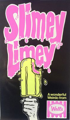 1970s Walls Slimey Limey Ice Block Poster