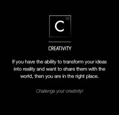 Have you challenged your creativity? Competition, Creativity, Challenges, News, Videos