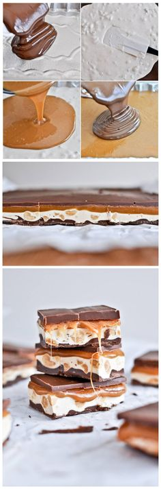 homemade snickers bars.