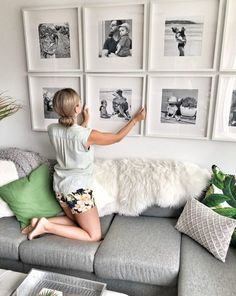 How to create a grid-style gallery wall of family photos!