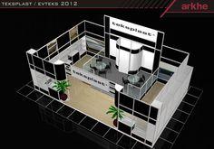 Teksplast Modular Exhibition Stand Design @ fairistanbulturkey  | Arkhe Mimarlik  www.fairistanbulturkey.com