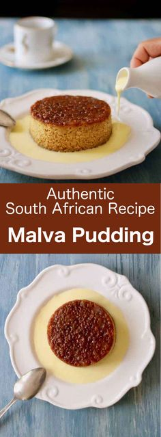 Malva pudding is a honey-toned sweet and rich cake of Cape Dutch origin, that is covered with a cream before being served.