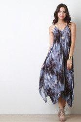 Tie Strap Tie Dye Maxi Dress