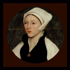 Portrait Of A Young Woman With A White Coif - 1541 Painting  - Portrait Of A Young Woman With A White Coif - 1541 Fine Art Print