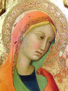 Lippo Memmi. Sainte Marie Madeleine, détail.