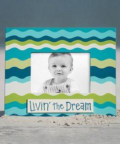 Love this Blue 'Livin' the Dream' Stripe Frame on #zulily! #zulilyfinds