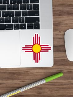 """""""New Mexico Flag Symbol Patriotic Red Sun"""" Sticker by ArgosDesigns 