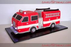 How to carve 3D Fire Truck cake