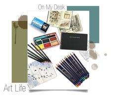 """""""On My Desk"""" by cats-n-chamomile ❤ liked on Polyvore featuring interior, interiors, interior design, home, home decor, interior decorating, Moleskine and onmydesk"""