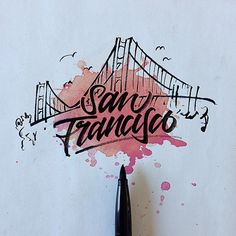 Cities with brush pen \ Lettering & Calligraphy Types Of Lettering, Brush Lettering, Lettering Design, Calligraphy Letters, Typography Letters, Typography Inspiration, Graphic Design Inspiration, Inspiration Artistique, Web Design