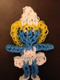SMURFETTE (Marlene.Barressii) on Rainbow Loom. See pictorial on Tutorial board or click on photo.