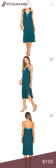 NWT Finders Keepers Yesterdays Dress in Petrol NWT Finders Keepers Yesterdays Dress in Petrol Finders Keepers Dresses Midi