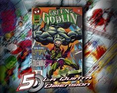 GREEN GOBLIN # 2 EL ENEMIGO DE SPIDER-MAN COMO ANTI-HÉROE. $ 50.00 Para más información, contáctanos en http://www.facebook.com/la5aDimension