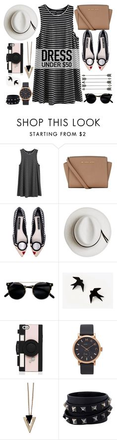 """Dress Under $50"" by bklana ❤ liked on Polyvore featuring MICHAEL Michael Kors, Alice + Olivia, Calypso Private Label, Kate Spade, Marc Jacobs, Chicnova Fashion, Valentino, bklana and Dressunder50"