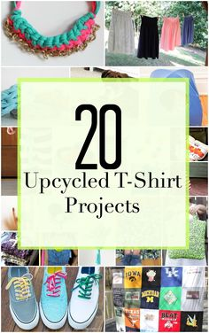 Don't toss out that old t-shirt, turn it into something new and fresh with these 20 upcycled t-shirt projects!