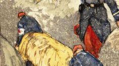 Les brancardiers peints par Mathurin Méheut, artiste breton qui a participé à toute la guerre source : site de la mission du centenaire