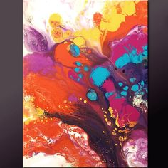 Modern ABSTRACT Art Painting - 18x24 Original Contemporary Art by Destiny Womack - dWo - JOY
