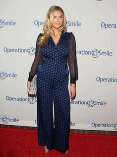 Kate Upton wears a clinging jumpsuit to the Operation Smile 2015 Gala in Beverly Hills