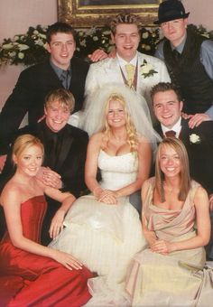 Kerry and Bryan with westlife and atomic kitten