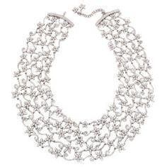 Impressive Diamond Floral Necklace