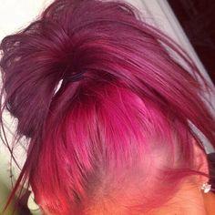 Pink Ombre Messy Bun