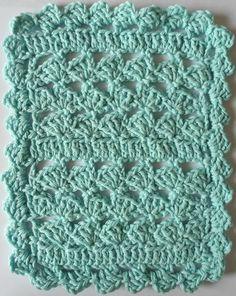Free Crochet Pattern: Shapely Shells Crochet Dishcloth – Maggie Weldon Maggies Crochet