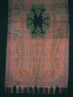 Produced by Clabburn, Sons and Crisp  England, Norwich, Shawl 1860s