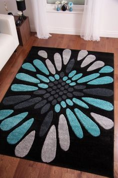 toronto modern black teal blue hand carved rugs x x