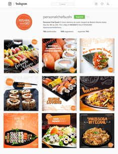 Food Design, Sushi Design, Menu Design, Design Ideas, Social Media Branding, Social Media Banner, Food Banner, Food Advertising, Social Media Design