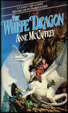 """Anne McCaffrey's """"The White Dragon"""" I've always loved this piece of Michael Whelan's."""