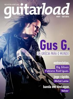 Gus G - Guitarload Magazine Cover [Brazil] (October 2014)