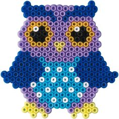 Billedresultat for hama perler ugle Fuse Bead Patterns, Owl Patterns, Perler Patterns, Beading Patterns, Perler Beads, Perler Bead Art, Fuse Beads, Perler Bead Designs, Hama Beads Design
