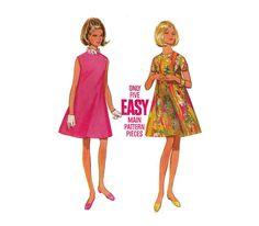EASY Tent DRESS Pattern HighFitted Summer Dress by HoneymoonBus, $7.99