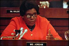 Barbara Jordan - first black woman elected to Congress from Texas since Reconstruction.