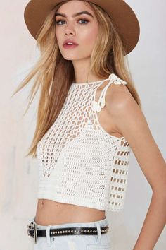 nasty gal. glamorous center stage crop sweater. #fashion