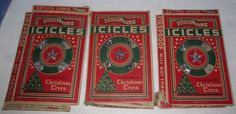3 Old Vintage Boxes Doubl-Glo Icicles for Decorating Christmas Trees Tinsel ~ This auction is for three old vintage boxes of Doubl-Glo icicles for decorating Christmas Trees.  Made in U.S.A.  Boxes are flat and some have tears.  Fireproof - Will Not Tarnish.