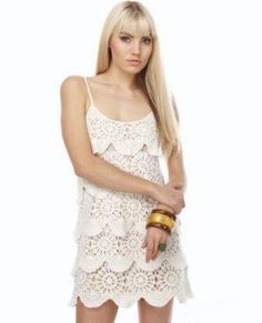 Ruffle crochet dress