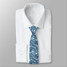 Bright Blue Bold Boshi Shibori Block Modern Necktie