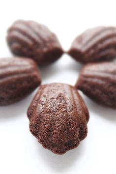 Chocolate Madeleines for the  Beaujolais Nouveau wine tasting